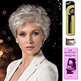 Beauty by Ellen Wille wigs, Magic Wig Comb, Wig Cap LIner, Wig Galaxy Hair loss Booklet. (4 - Item Bundle) (SNOW-MIX)