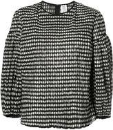 Rosie Assoulin balloon sleeve checked blouse