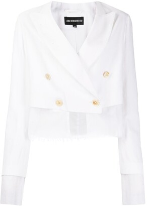 Ann Demeulemeester Layered Cropped Jacket