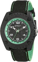 Sprout Men's ST/3007GNBK Green Accented Organic Cotton Strap Watch