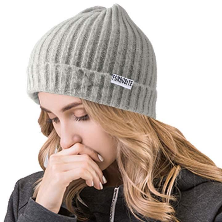 a6bcbd8fe Ruphedy Woens Cuffed Beanie Hats Winter Unisex Slouchy Knit Ski Skull Cap  B096