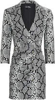 retrofete Willa Snake-Printed Leather Dress