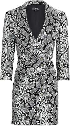 retrofete Willa Snake-Printed Leather Dress
