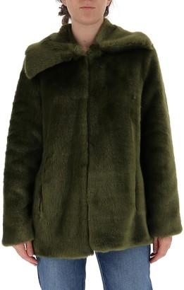 L'Autre Chose Faux Fur A-Line Coat