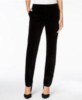 Charter Club Petite Velvet Slim-Leg Pants, Only at Macy's