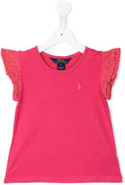 Ralph Lauren embroidered sleeves T-shirt - kids - Cotton/Modal - 4 yrs