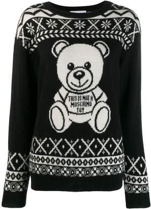 Moschino teddy print sweatshirt