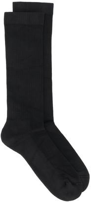 Rick Owens Logo Embroidered Socks