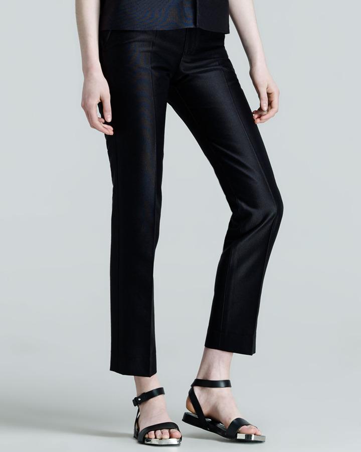 Jil Sander Pier Straight-Leg Ankle Pants, Navy
