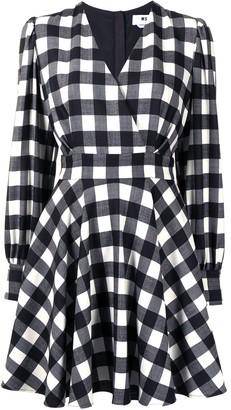 MSGM Check-Pattern Flared Dress