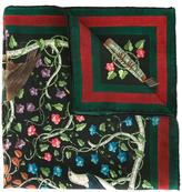 Gucci birds print pocket square - men - Silk - One Size