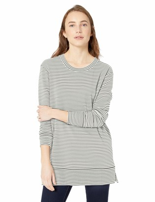 Daily Ritual Amazon Brand Women's Terry Cotton and Modal Side-Vent Tunic