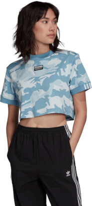 adidas Women's Camo Crop T-Shirt