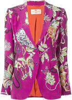 Etro floral print two-button blazer