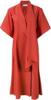 Lemaire draped midi dress - women - Cotton - 38