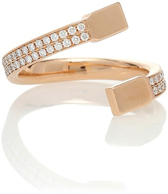 Repossi Serti Carres Alternes 18kt gold and diamond ring