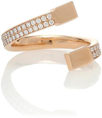 Repossi Serti Carres Alternes 18kt gold and diamond ring