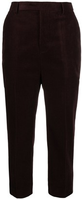 Rick Owens High-Waisted Cropped Trousers