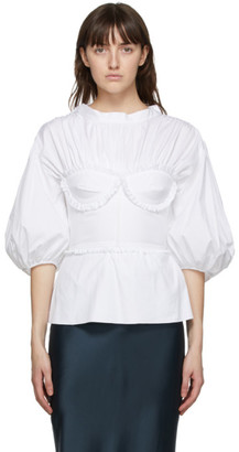 Brock Collection White Bustier Blouse