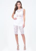 Bebe Open Net Midi Dress