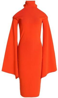 SOLACE London Cold-shoulder Ponte Dress