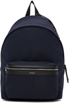Saint Laurent Navy Classic City Backpack