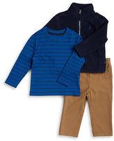 Nautica Baby Boys Fleece Jacket, Tee and Chinos Set