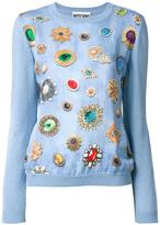 Moschino jewel print jumper