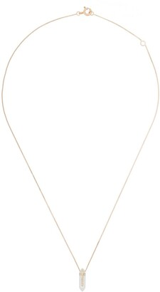 Pascale Monvoisin 9kt Two-Tone Crystal Pendant Necklace