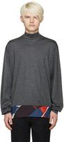 Kolor Grey Silk Panel Sweater