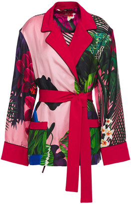 F.R.S For Restless Sleepers Belted Printed Silk-twill Jacket