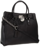 MICHAEL Michael Kors - Hamilton Large North/South Tote (Black Leather) - Bags and Luggage