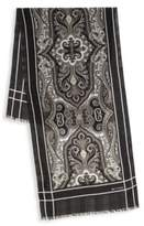 Etro Printed Wool & Cashmere Scarf