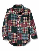 Gap Patchwork button-down twill shirt