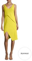 Narciso Rodriguez Crepe Asymmetrical Seam Sheath Dress