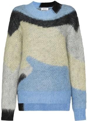 Ambush geometric pattern knitted sweater