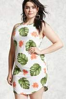 Forever 21 Plus Size Tropical Mini Dress