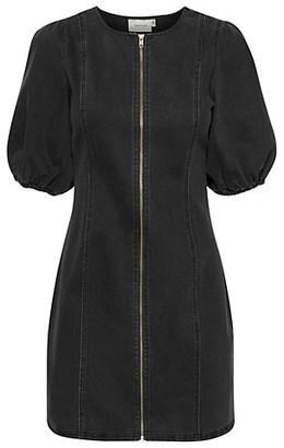 Gestuz Sofy Denim Zip-Front Dress