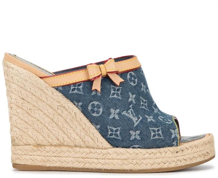 Louis Vuitton Pre-Owned open toe monogram clogs