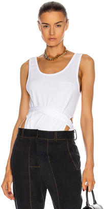 Y/Project Sleeveless Wrap Tank Top in White   FWRD
