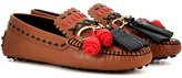 Tod's Gommino Gipsy Catena Leather Moccasins