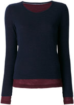 Y's layered top - women - Wool - 2