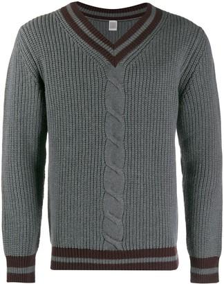 Eleventy contrast stripes detail jumper