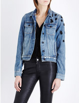 Paige Rowan star-sequinned denim jacket