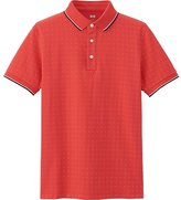 Uniqlo Men's Dry Pique Micro Dot Printed Polo Shirt