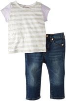 7 For All Mankind Skinny W/Foil Tee (Baby) - Medium Indigo-0-3 Months