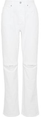 Christopher Kane Cutout High-rise Straight-leg Jeans
