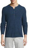 Rag & Bone Garrett Long-Sleeve Henley Shirt, Navy