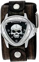 Nemesis 'Triangle Heavy Duty' Quartz Stainless Steel and Leather Watch, Color:Black (Model: FLBB936K)