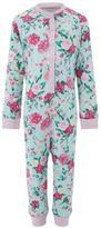 Monsoon Florencia Rose Print Jersey Sleepsuit